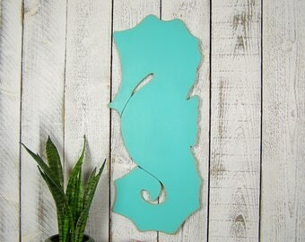 Seahorse Wall Decor Seahorse Decor Wooden Beach Decor Coastal Decor  Nautical Decor Nautical Home Decor Wood