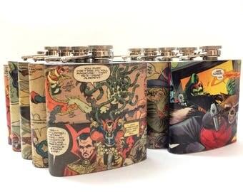 Superhero Flask - Hip Flask Personalized Gift - Groomsmen Flask - Wedding Favor - Birthday Gift - Travel Gifts - Bachelor Gift - Geek Gift
