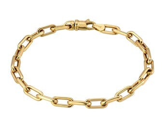 14k gold box chain bracelet