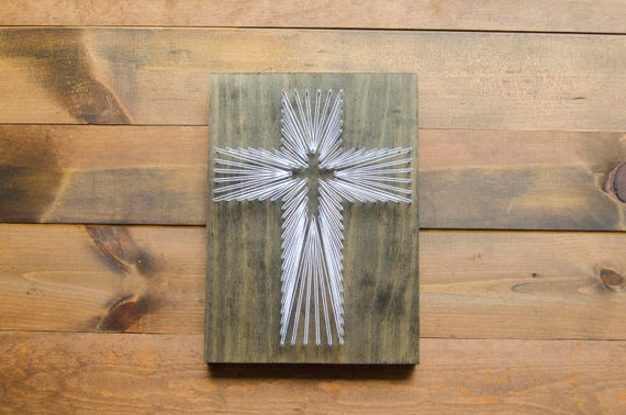 Cross String Art Christian Wall Art Religious Wall Art