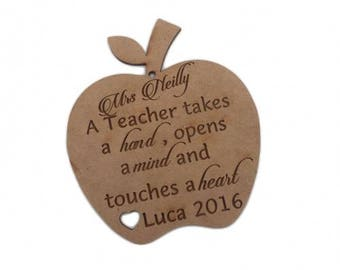 Teacher GIFT  Personalized Apple School Gift Teachers Gift