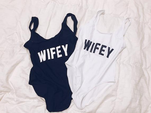 Wifey Swimsuit   Wifey Bathing Suit   Wifey Gift