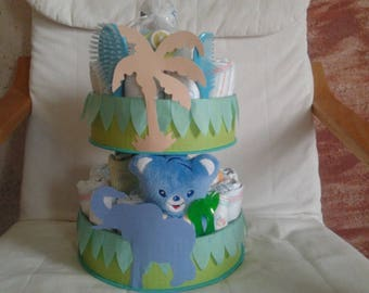 """Jungle"" to order diaper cake"
