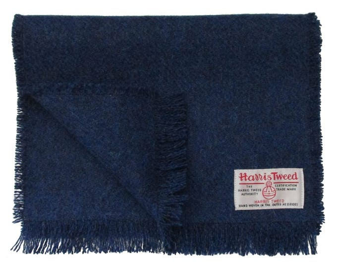Harris Tweed Windsor Blue Pure Wool Neck Scarf