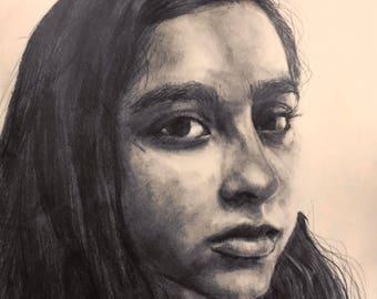 "Custom Graphite Portrait 12x8"""