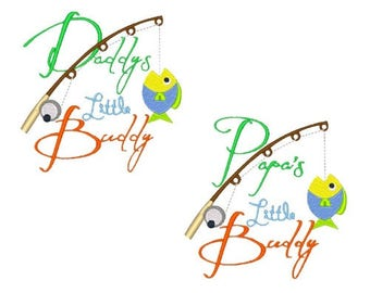 Fishing Machine Embroidery Designs Daddy Designs Papa Design Embroidery Design Fish 4X4 5X7 6X10 8X8 Instant Download