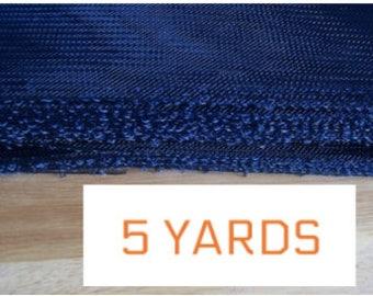"Blue Crin 6"" Navy Blue (crinoline horsehair braid) 6.3 inch (16cm) - 5 yards"