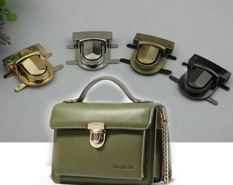 6 pcs Purse lock gold silver brass Gun twist purse turn lock clutch clock Turn Lock Fastner Purse bag handbag Latch hardware XY079