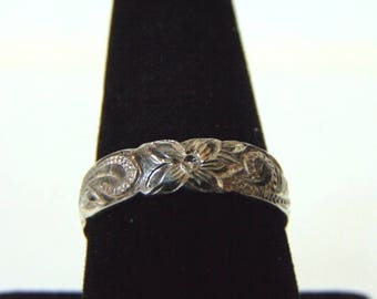 Vintage Estate .925 Sterling Silver Ring 4.2g, E3197
