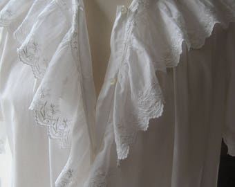 Freepost UK Antique Soft Lace Nightgown, Nightdress, French Romantic Nightwear, Nightshirt, Downton Abbey
