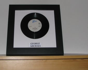 """George Michael Father figure 7"""" framed vinyl gift"""