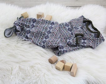 Aztec Knot Gown - New Baby Gown - Baby Boy - Gender Neutral - Olive Green - New Baby Clothes - Take Home Outfit - Homemade Baby Clothes