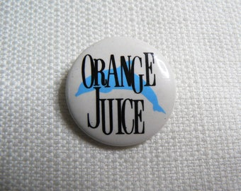 Vintage 80s Orange Juice - You Can't Hide Your Love Forever Album Dolphin (1982) Pin / Button / Badge