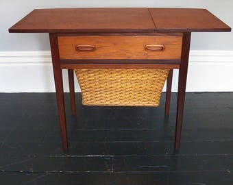 1960's Teak Sewing Table