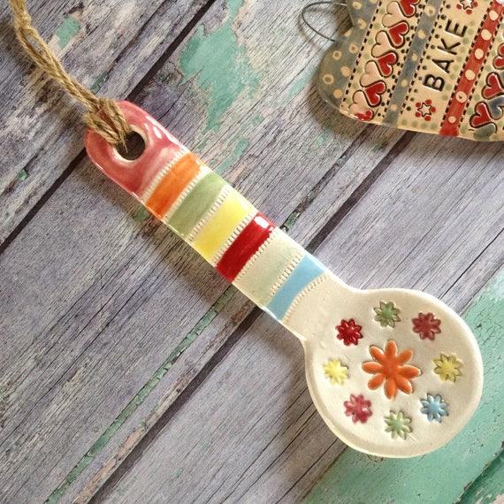Handmade Ceramic Hanging Spoon
