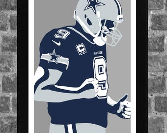 Dallas Tony Romo Sports Print Art 11x17