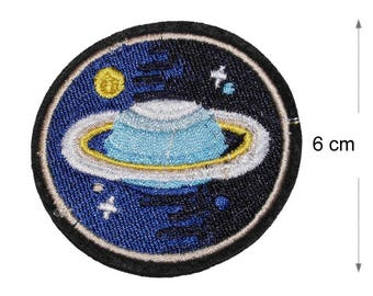 Planets Iron on / sew on Embroidery Patch Badge Embroidered Nasa Space agency Motif
