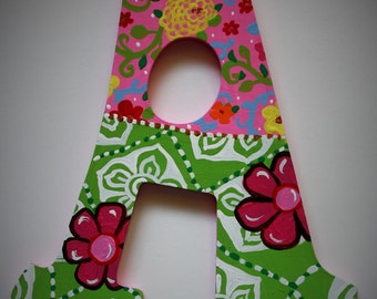 Little Miss Wall Letters -- Custom Hand Painted Wooden Letters -- Price Per Letter