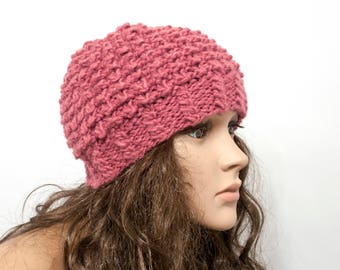 Women Hat  Chunky knit hat Warm ears hat Knit Accessories Gift For Her - Ready to ship