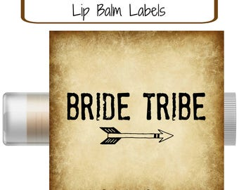 Bride Tribe Bachelorette Favors | Instant Download | Lip Balm Labels | Gift Tags | Sticker Labels |  DIY | Stickers | Hangover Kit