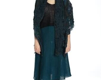 Boho felted shawl. Perfect for girt.