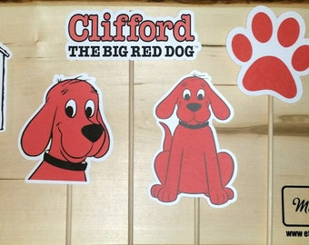 Clifford The Big Red Dog Inspired Character on a Stick