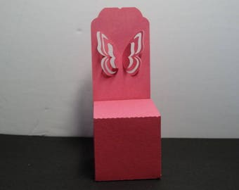 Box lozenge 3D fuchsia Butterfly Chair