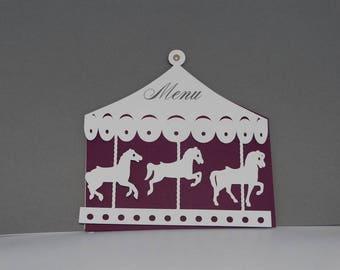 Menu carousel merry-go-round