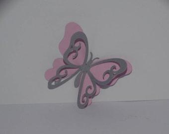 Monarch butterfly cut dual color