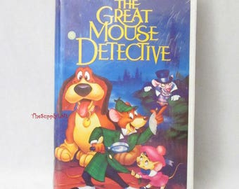 Rare Black Diamond Label Vintage Sealed Disney The Great Mouse Detective VHS Movie - Collectible Gift