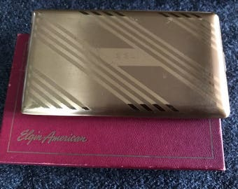 Vintage Elgin cigarette case in box