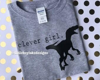 Clever Girl Tee - Clever Girl T-shirt - Clever Girl Shirt - Muldoon Tee - Muldoon T-shirt - Dinosaur Tee - Dinosaur T-shirt - Toddler Shirt
