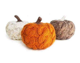 Stuffed Pumpkin, Knit Pumpkin, Autumn Decor, Halloween Decorations, Thanksgiving Decor, Thanksgiving Table Decor, Fall Decor,Halloween Decor