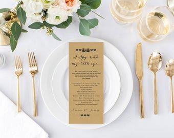 50 x Wedding individual place setting 'I spy with my little eye' cards - a photo challenge!