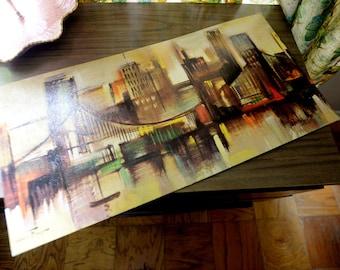 "Cool Mid Century Print - Ozz Franca ""Reflected Cityscape"""