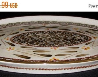 "ON SALE Temp-tations OLD World Brown Ovenware Oval Serving Platter Dinnerware 14 1/4"" x 9 3/4"""
