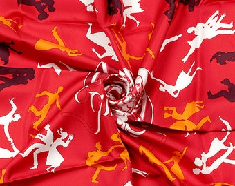 "HERMES SCARF Silk ""Boogie Woogie"" by Sophie Koechlin 90cm Carre 100% Auth"