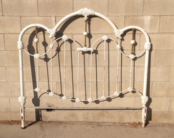 sold vintage wrought iron full headboard antique wrought iron bed white metal headboard
