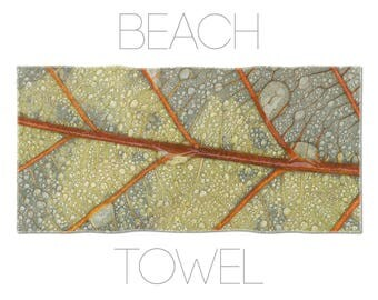 Leaf Towel, Macro Photography, Hotel Towels, Photo Beach Towel, Cotton Towel, Photo Printed, Bathroom Linen