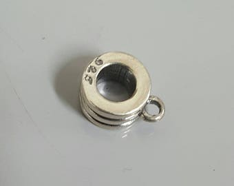 Sterling Silver Slider Bead, 5mm Hole