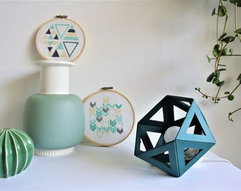 small teal Origami lamp