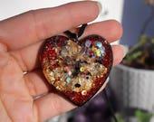 Orgonite® - Orgonite® Pendant - Heart - Necklace - Handmade - Orgone Generator® - Crystals - Gift - EMF Protection - Quartz - HoodXHippie