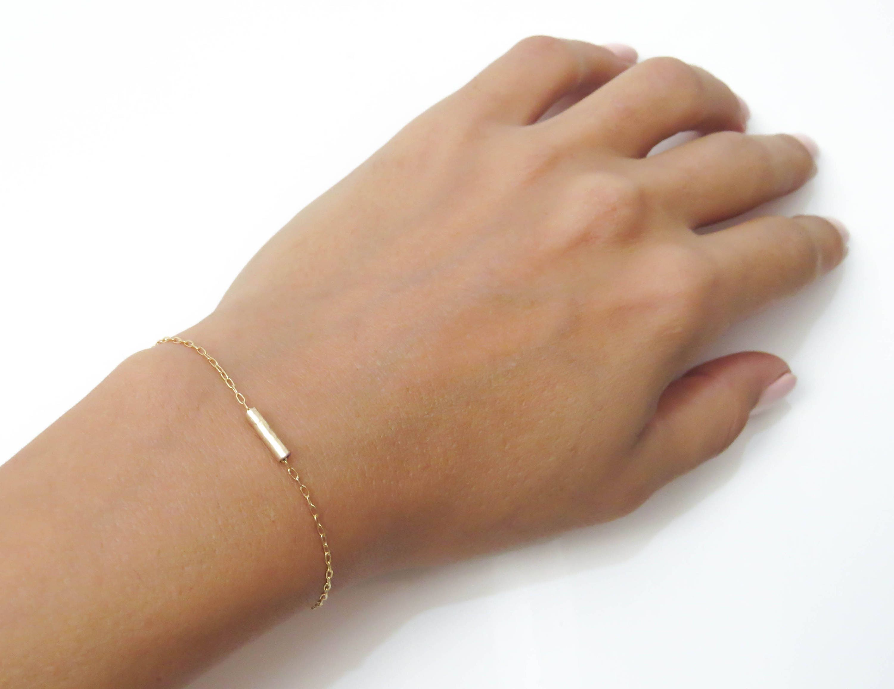 fullxfull heart on thin sister tiny p gold bracelet filled dainty il chain