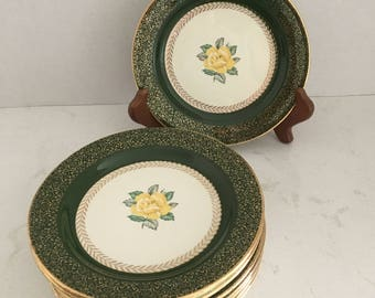 Lady Greenbriar Bread and Butter Plates Set  of 9