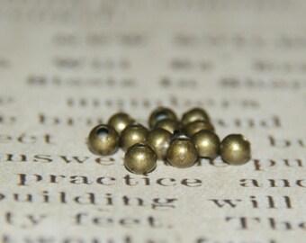 50 PC wood beads 4mm bronze metal