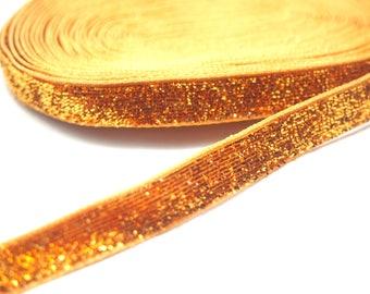 Saffron glitter by 50cm Ribbon; 8mm