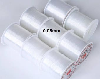 Spool of nylon thread for jewelry 0.05 mm - 25 m