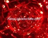 2m/6.6ft 1 set Red 20 LED fairy light string strand cr 2032 button battery for DIY, centerpiece, vase, wedding, costume, rave, EDM, event