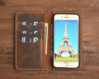 iPhone 7 Wallet Case, Wallet,Leather Wallet,Leather Case,Phone Wallet,iPhone 7 PLUS,iPhone 6sPLUS - Personalized - Custom Engraved