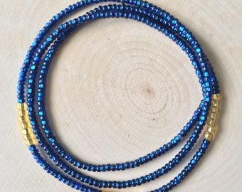 Golden Blues Waist Beads